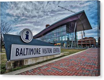 Canvas Print featuring the photograph The Baltimore Visitors Center by Mark Dodd