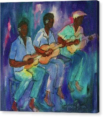 The Band Boys Canvas Print by Karen Bower