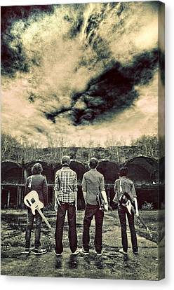 The Band Has Arrived Canvas Print by Meirion Matthias