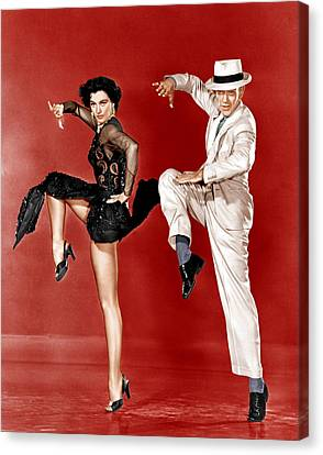 The Band Wagon, From Left Cyd Charisse Canvas Print by Everett