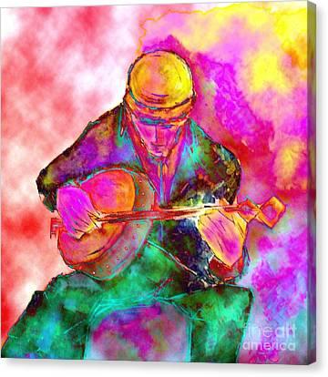 The Banjo Player Canvas Print