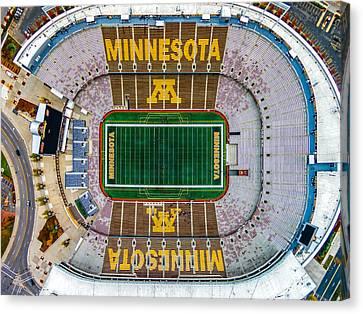 University Of Minnesota Canvas Print - The Bank by Mark Goodman