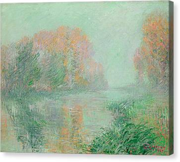 The Banks Of The Eure Canvas Print by Gustave Loiseau
