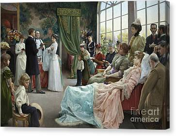 The Baptism, 1892 Canvas Print by Julius Leblanc Stewart