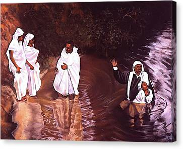 The Baptism Canvas Print by Curtis James