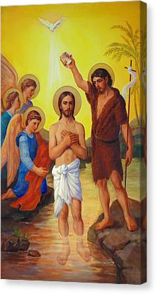 The Baptism Of Jesus Christ Canvas Print by Svitozar Nenyuk