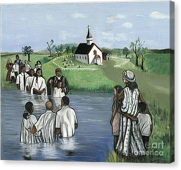 The Baptism Canvas Print by Toni  Thorne