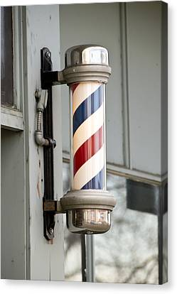 The Barber Shop 4 Canvas Print by Angelina Vick