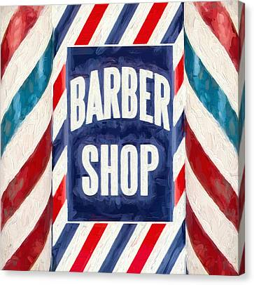The Barber Shop Canvas Print by Dan Sproul