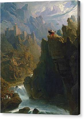 The Bard Canvas Print by John Martin