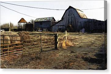 The Barn Across The Road Canvas Print