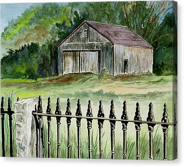 The Barn At Parsonsfield Maine Canvas Print by Brenda Owen