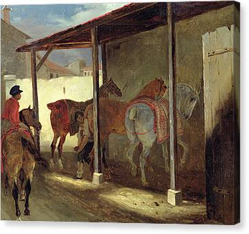 The Barn Of Marechal-ferrant Canvas Print by Theodore Gericault