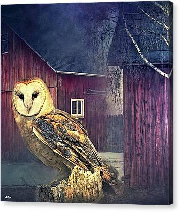 Reds Of Autumn Canvas Print - The Barn Owl 02 by G Berry