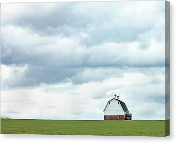 Canvas Print featuring the photograph The Barn by Rebecca Cozart