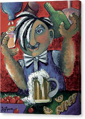 The Bartender Canvas Print