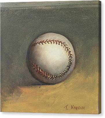 The Baseball Canvas Print by Teri Vaughn