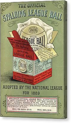 The Baseball Canvas Print by Vintage Pix