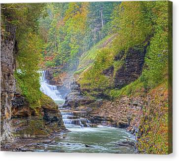 The Bashful Lower Falls Canvas Print