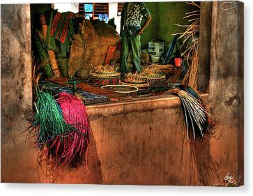 Canvas Print featuring the photograph The Basket Cooperative by Wayne King