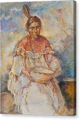 The Basket Maker Canvas Print