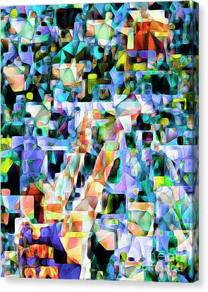 The Basketball Jump Shot In Abstract Cubism 20170328 Canvas Print