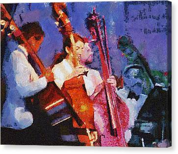 The Bass Section Canvas Print by Robert Bissett