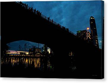 The Bat Bridge Austin Texas Canvas Print by Betsy Knapp