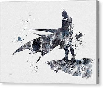 Comic Book Canvas Print - The Bat by Rebecca Jenkins