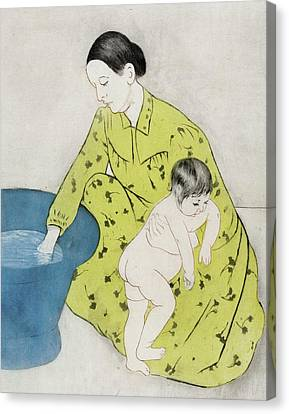 The Bath Canvas Print by Mary Stevenson Cassatt