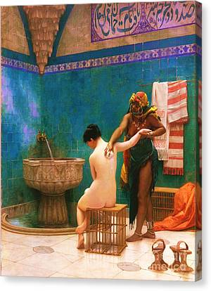 The Bath Canvas Print by Pg Reproductions