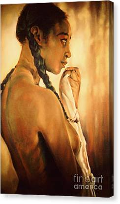 The Bather I Canvas Print by Curtis James