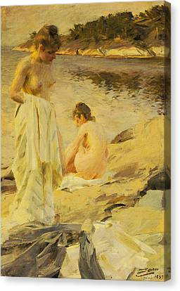 The Bathers Canvas Print by Anders Leonard Zorn