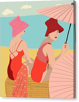 Fashion Canvas Print - The Bathers by Nicole Wilson