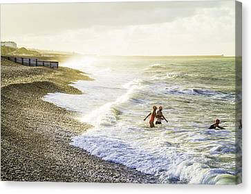 The Bathers Canvas Print by Russell Styles