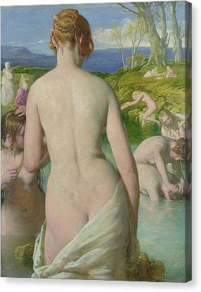 The Bathers Canvas Print by William Mulready