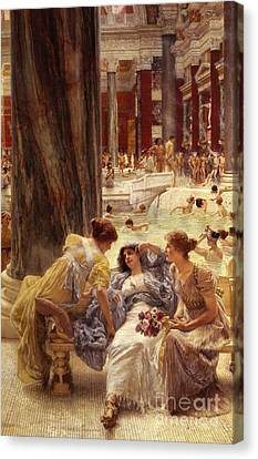 Swimmers Canvas Print - The Baths Of Caracalla by Sir Lawrence Alma-Tadema