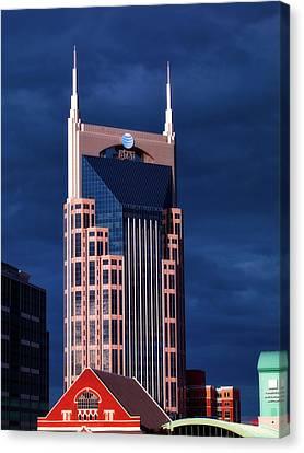 The Batman Building - Nashville Canvas Print by L O C