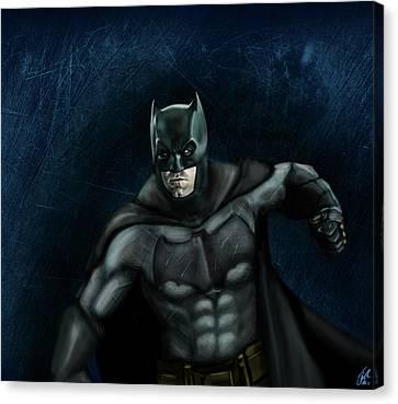 The Batman Canvas Print by Vinny John Usuriello