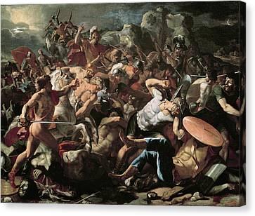 The Battle Canvas Print by Nicolas Poussin