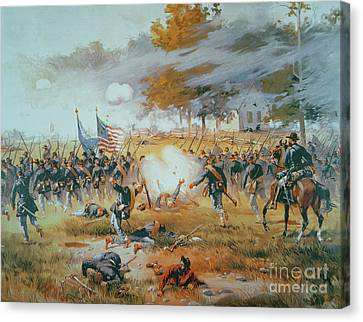 The Battle Of Antietam Canvas Print by Thure de Thulstrup