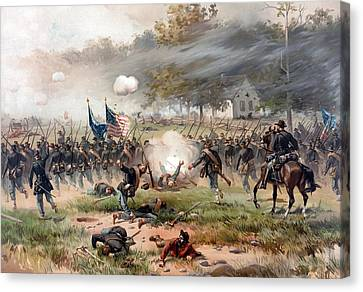 The Battle Of Antietam Canvas Print by War Is Hell Store