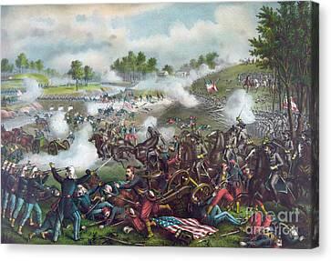 The Battle Of Bull Run Canvas Print