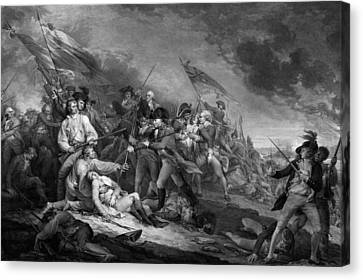 The Battle Of Bunker Hill Canvas Print
