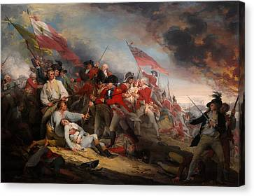 The Battle Of Bunker's Hill Canvas Print by Mountain Dreams