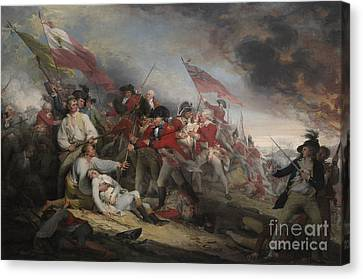 The Battle Of Bunker's Hill On June 17th 1775 Canvas Print
