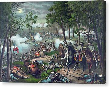 The Battle Of Chancellorsville Canvas Print