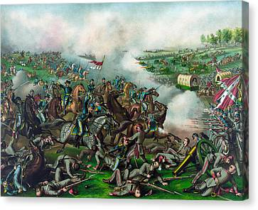 The Battle Of Five Forks Canvas Print by War Is Hell Store