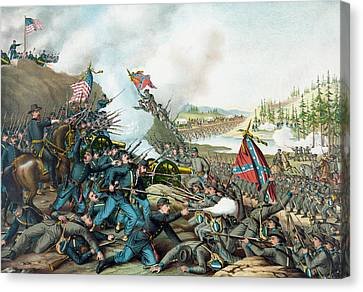 The Battle Of Franklin - Civil War Canvas Print by War Is Hell Store