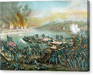 The Battle Of Fredericksburg - Civil War Canvas Print by War Is Hell Store